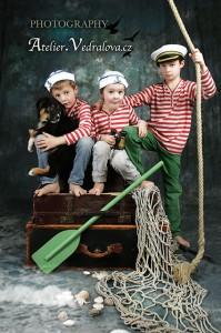 fotografování dětí foto fotoateliér baby photo focení námořníci
